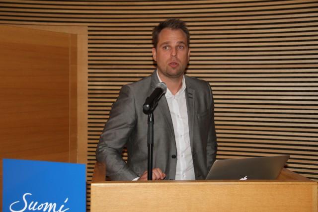 ICEJ:n Arise-työn johtaja Jani Salokangas kertoi lähetystön toiminnasta Jerusalemissa ja israelilaisten sinnikkyydestä yhdistyneessä kaupungissa.