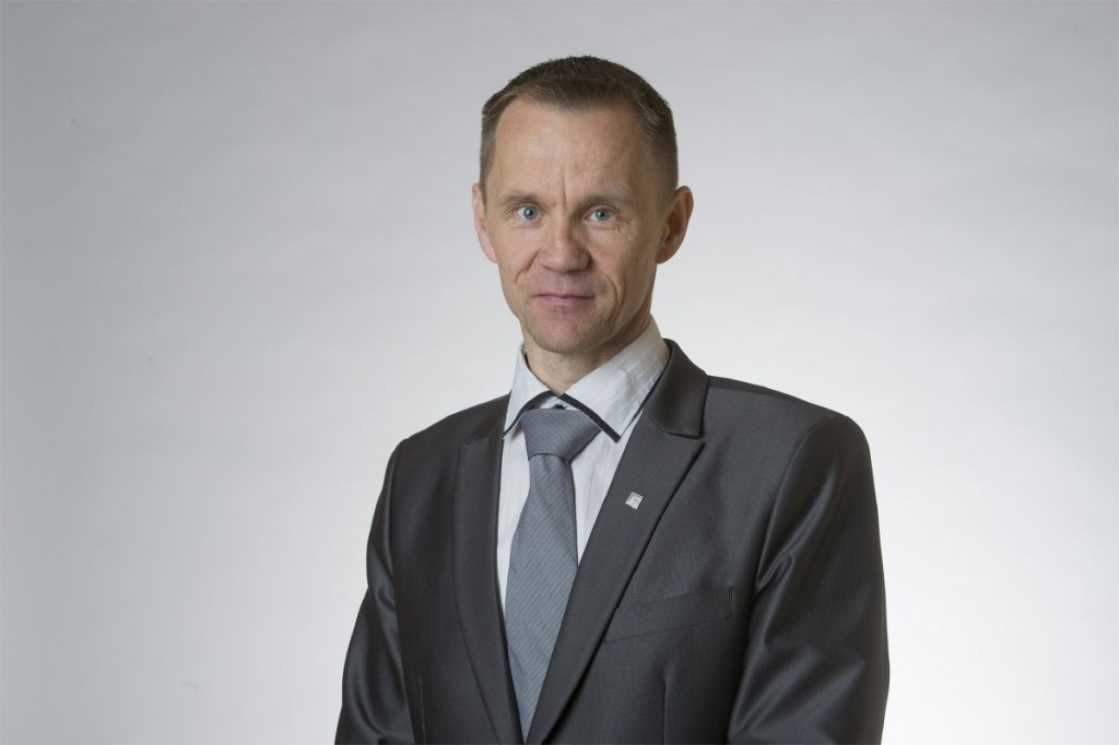 Member of Parliament Mika Niikko (The Finns Party Parliamentary Group) in Helsinki on April 27, 2015.